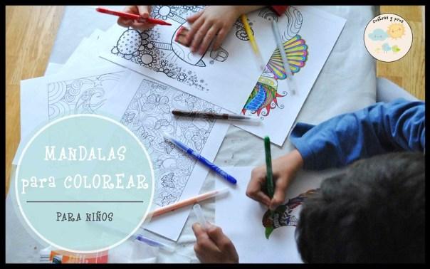 Mandalas para colorear para niños