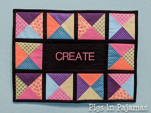 Create mini quilt