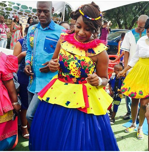 Tsonga Traditional Shweshwe Wedding Dresses