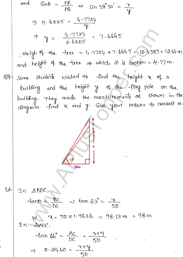 ml-aggarwal-icse-solutions-for-class-10-maths-chapter-21-heights-and-distances-13
