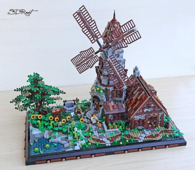 LEGO Medieval Windmill moulin à vent