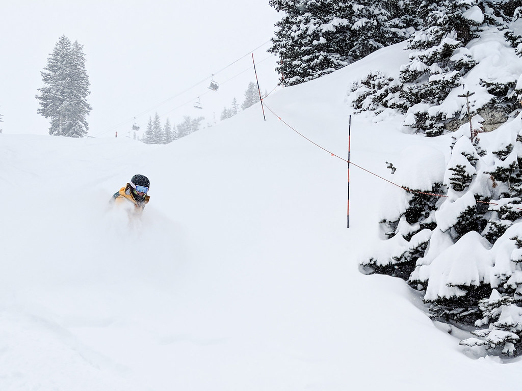 Powder face shots at Solitude Mountain Resort