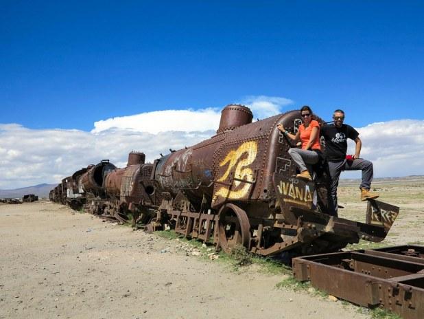 Cementerio de trenes en Uyuni