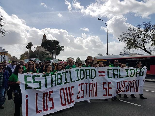 12M Manifestación Profesorado Interino
