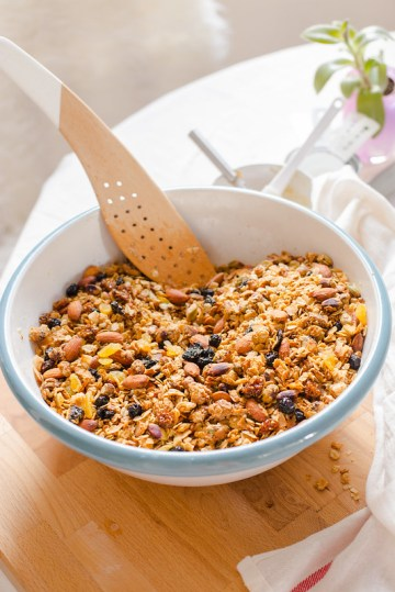 Tahini Cardamom and Maple Granola