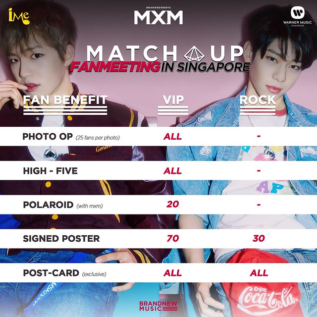 MXM Match Up Fan Meeting in Singapore Fan Benefits