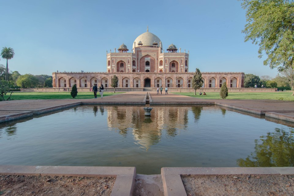 Humayun's Tomb and it's reflection in water