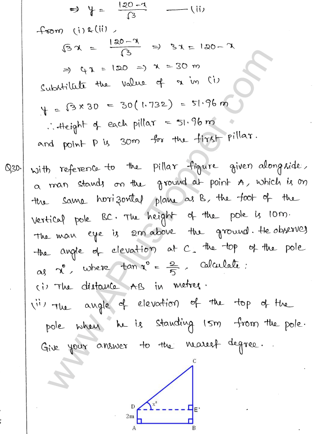 ml-aggarwal-icse-solutions-for-class-10-maths-chapter-21-heights-and-distances-32