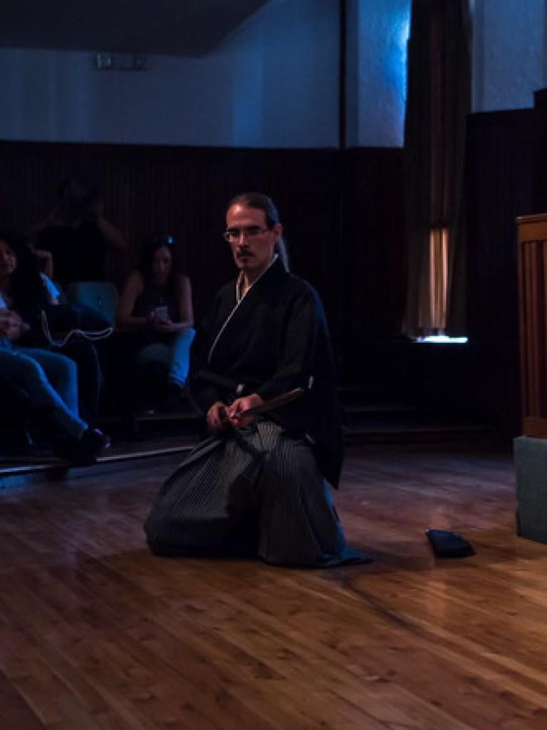 Demostración de Ryôen ryû naginatajutsu en la Universidad Politécnica de Quito.