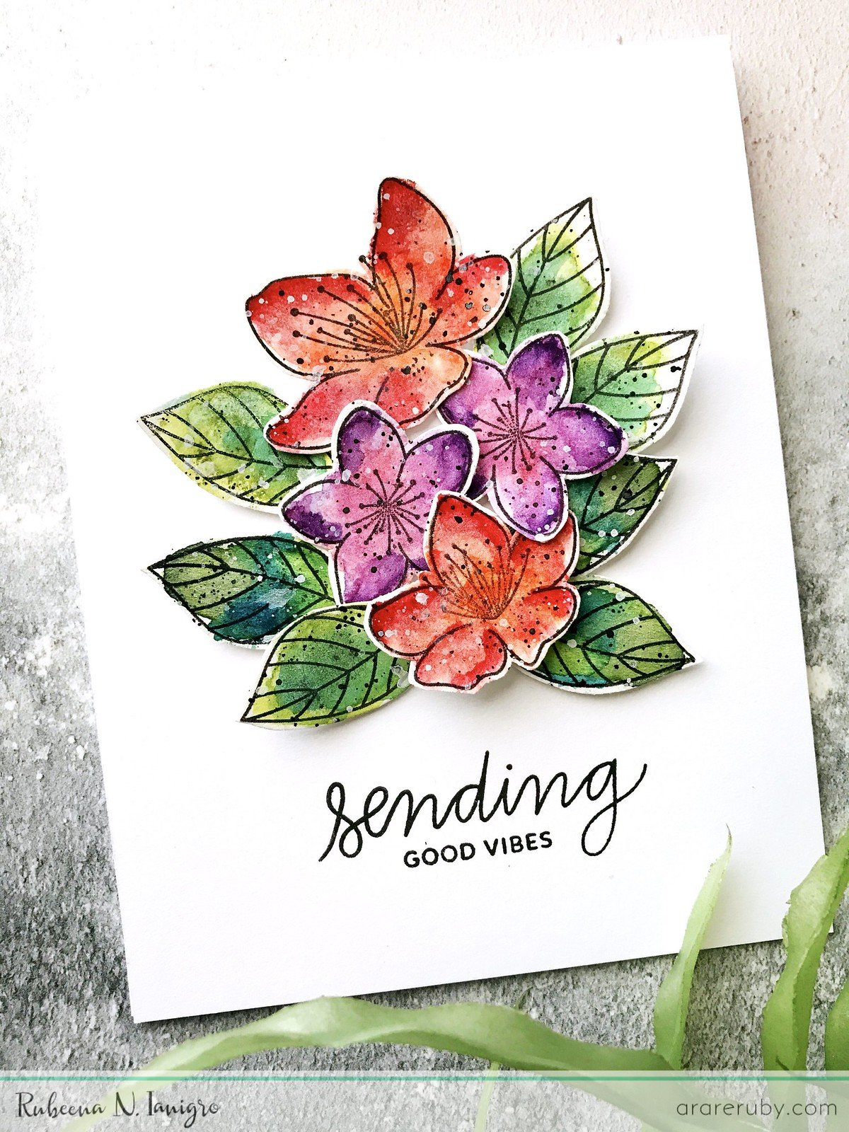 PPP March Blog Hop - Floral Card 2 - Rubeena Ianigro