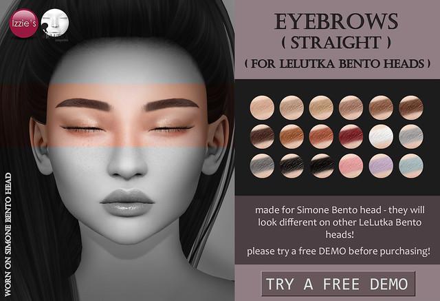 Lelutka Eyebrows straight