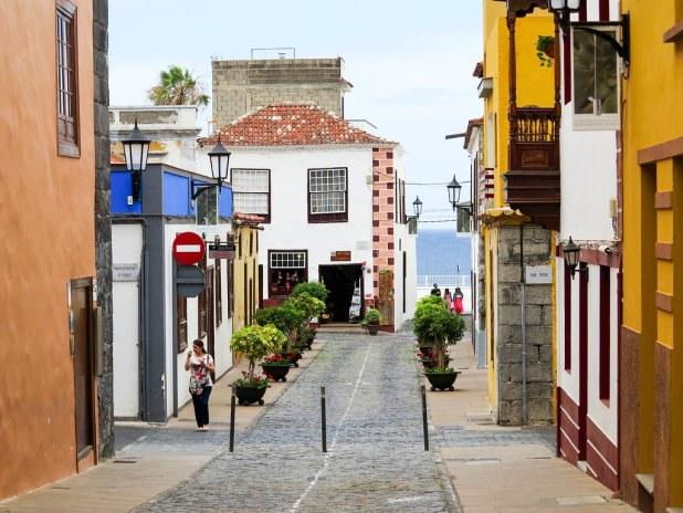 Calles adoquinadas en Tenerife