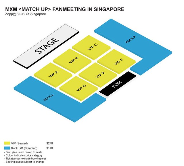 MXM Match Up Fan Meeting in Singapore Seating Plan
