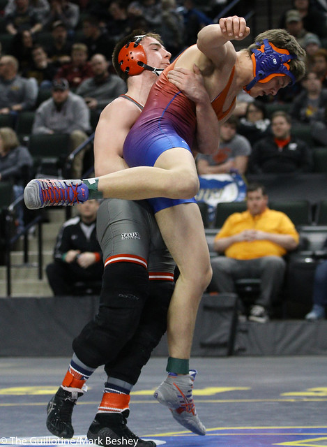 170A 1st Place Match - Jaden Kindopp (Canby) 37-11 won in tie breaker - 1 over Levi Larkin (West Central Area-Ashby-Brandon-Evansville) 38-8 (TB-1 2-1) - 180303cmk0315