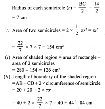 RD Sharma Class 10 Solutions Chapter 13 Areas Related to Circles Ex 13.4 - 16