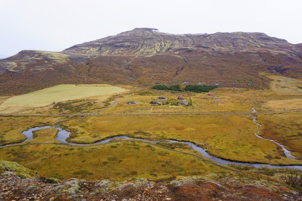 Haukadalur valley, seen from Laugarfjall
