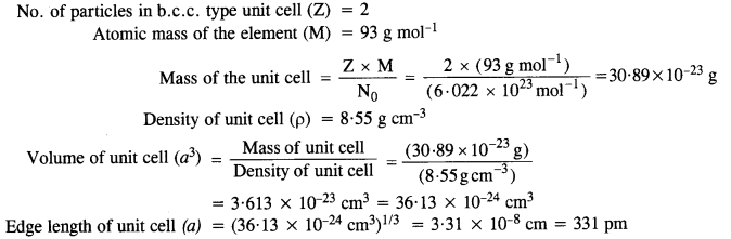 NCERT Solutions for Class 12 Chemistry Chapter 1 The Solid State 17