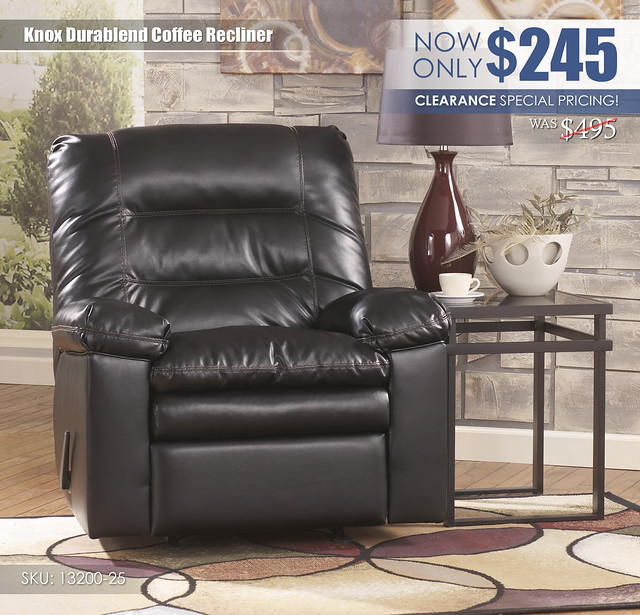 Knox Durablend Recliner_13200-25_Clearance