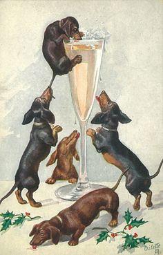 24524c933e93cf615b4854e14888411a--vintage-dachshund-dachshund-art
