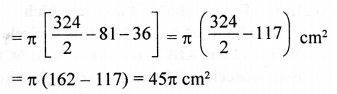 RD Sharma Class 10 Solutions Chapter 13 Areas Related to Circles Ex 13.4 - 43aa