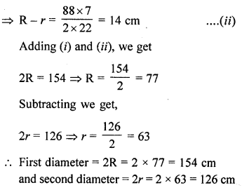 RD Sharma Class 10 Solutions Chapter 13 Areas Related to Circles Ex 13.1 8A