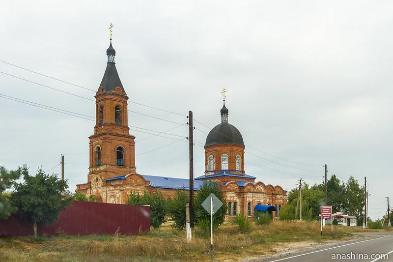 Церковь Казанской иконы Божией Матери в селе Октябрьское, Воронежская область