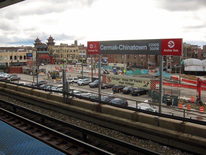 Chinatown Metra stop, Chicago