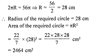 RD Sharma Class 10 Solutions Chapter 13 Areas Related to Circles Ex 13.1 11