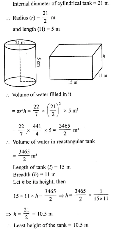 RD Sharma Class 10 Solutions Chapter 14 Surface Areas and Volumes Ex 14.1 38