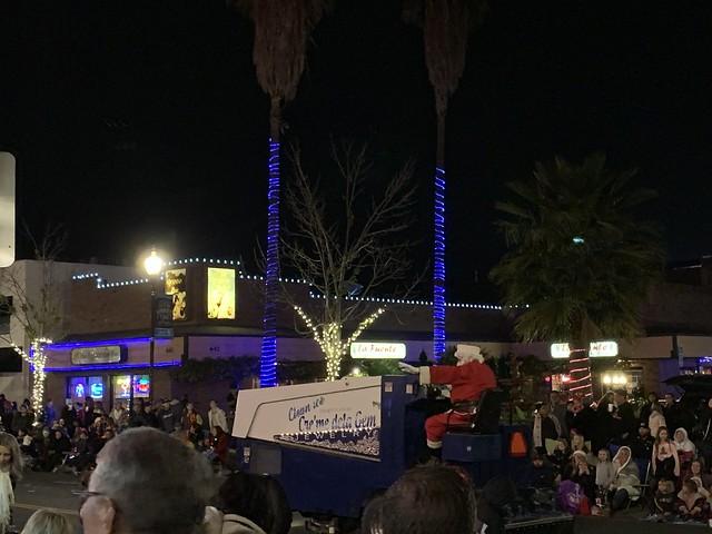 Santa at the end of the parade