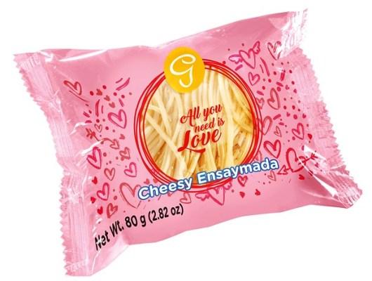 Goldilokcs Cheesy Ensaymada Valentine's Packaging