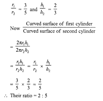 RD Sharma Class 10 Solutions Chapter 14 Surface Areas and Volumes  VSAQS 5