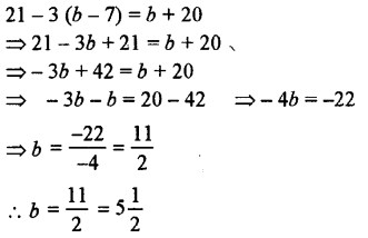Selina Concise Mathematics class 7 ICSE Solutions - Simple Linear Equations (Including Word Problems) -b19
