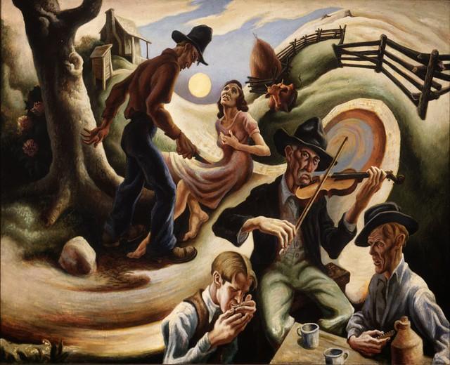 The Ballad of the Jealous Lover of Lone Green Valley – Thomas Hart Benton, 1934