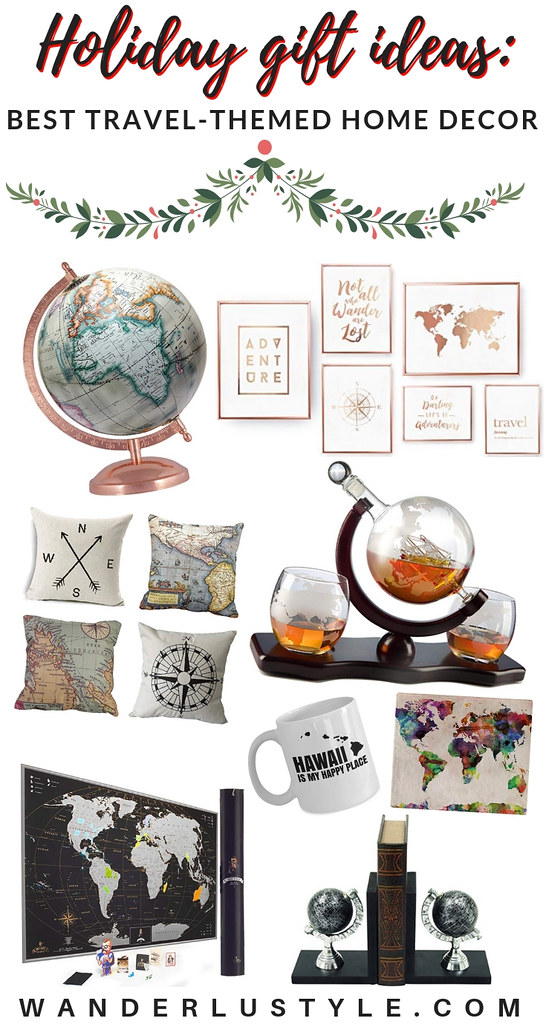 Holiday Gift Ideas for the Best Travel-Themed Home Decor - Holiday Gift Guide Home Decor | Wanderlustyle.com