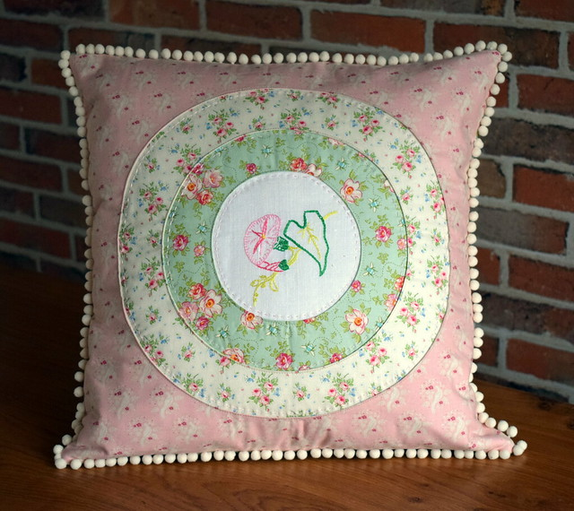 Triple Porthole Cushion