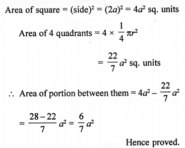 RD Sharma Class 10 Solutions Chapter 13 Areas Related to Circles Ex 13.4 - 31a