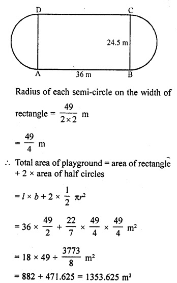 RD Sharma Class 10 Solutions Chapter 13 Areas Related to Circles Ex 13.4 - 2
