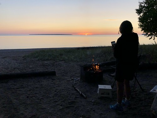 Lake Superior Sunset with Linda