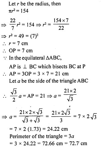 RD Sharma Class 10 Solutions Chapter 13 Areas Related to Circles Ex 13.1 15A
