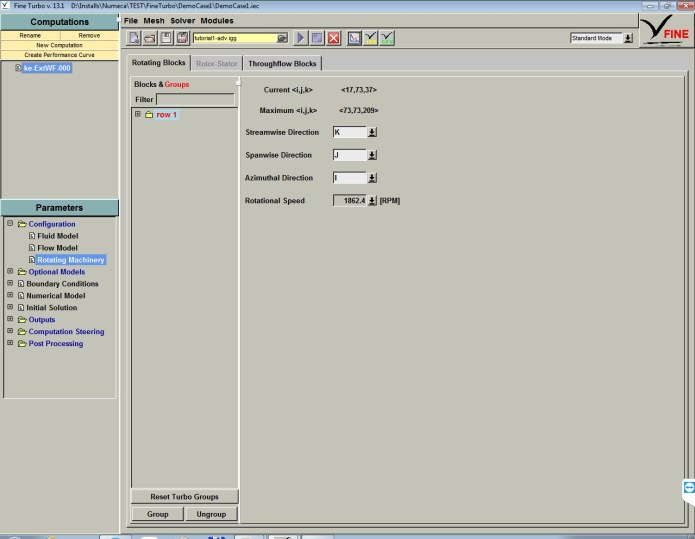 Working with NUMECA FINE-Turbo 13.1 full