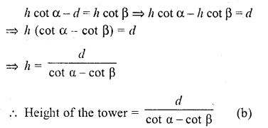RD Sharma Class 10 Solutions Chapter 12 Heights and Distances MCQS - 7aa