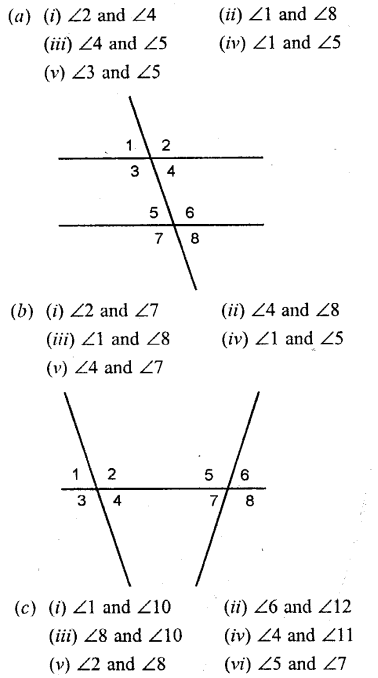 Selina Concise Mathematics Class 6 ICSE Solutions - Properties of Angles and Lines (Including Parallel Lines)-b1