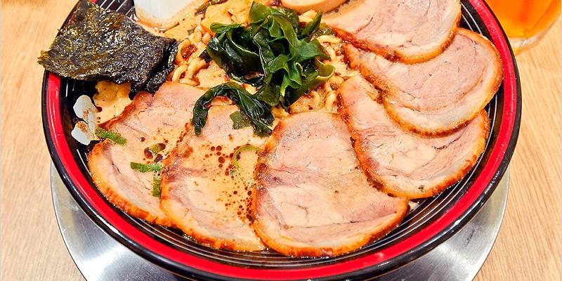 台中西區拉麵店 | 屯京拉麵(勤美誠品店)-來自日本東京池袋,豚骨+魚介湯頭濃香不膩口,肉食控必點大碗份量。