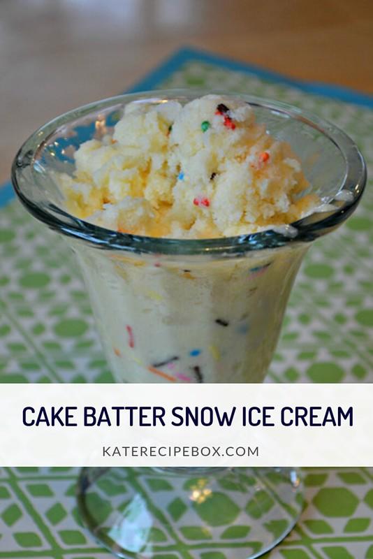 Cake Batter Snow Ice Cream