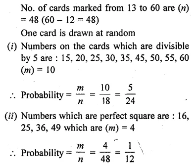 10th Maths Solution Book Pdf Chapter 13 Probability