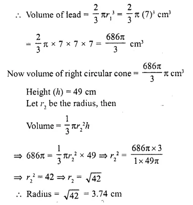 RD Sharma Class 10 Solutions Chapter 14 Surface Areas and Volumes  RV 19