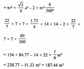 RD Sharma Class 10 Solutions Chapter 13 Areas Related to Circles Ex 13.4 - 27a