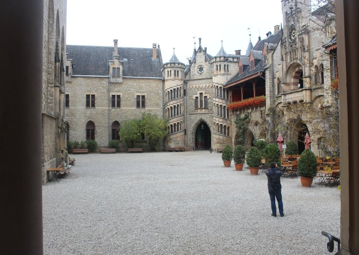 Courtyard of Marienburg Castle, Germany