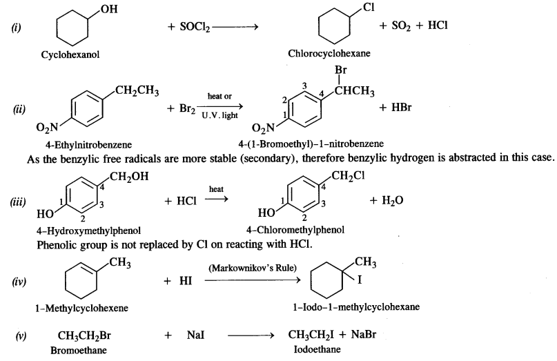 NCERT Solutions for Class 12 Chemistry Chapter 11 Alcohols, Phenols and Ehers tq 5a